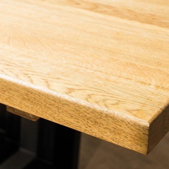 Larissa II Tölgyfa Asztal 180 cm / Fekete