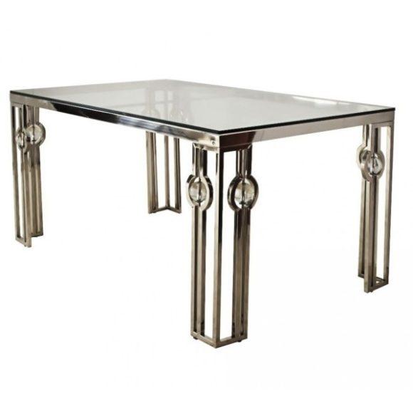 Lucky Étkezőasztal 150 cm Ezüst