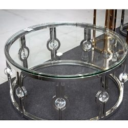 Mercedes Dohányzóasztal 90 cm / Ezüst