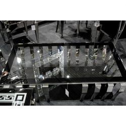 Missy Dohányzóasztal 70 x 130 cm / Ezüst