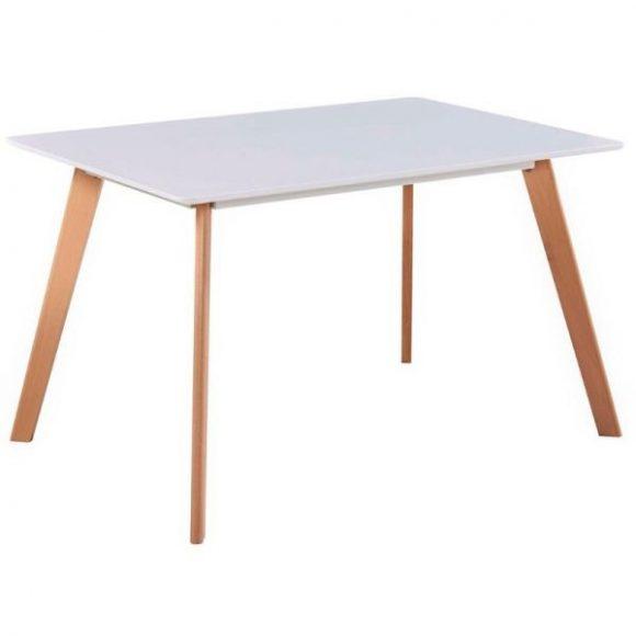 NORDIC étkezőasztal 120cm Fehér - Bükk