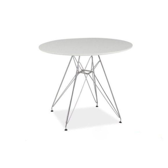 Nick Étkezőasztal Fehér / Króm