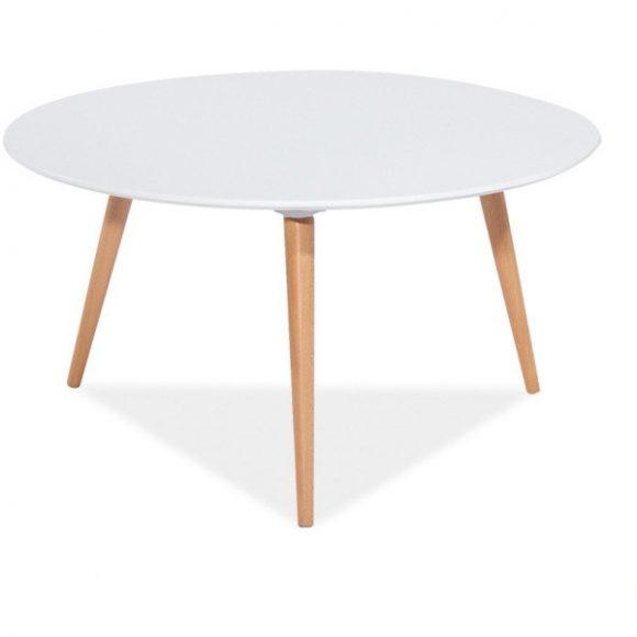Natalie C Dohányzóasztal 80 cm / Fehér