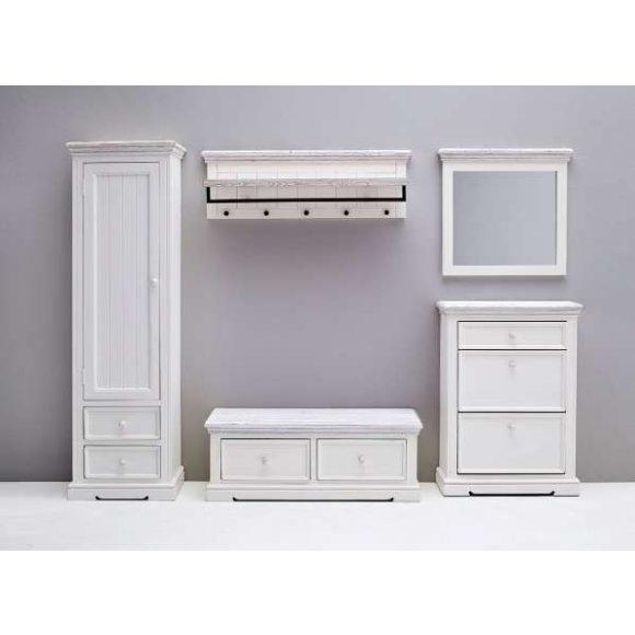 Odell Fiókos Pad 120 x 45 x 40 cm / Fenyőfa / Fehér