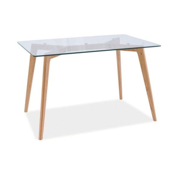 Oliver Étkezőasztal 120 cm Üveg / Tölgy
