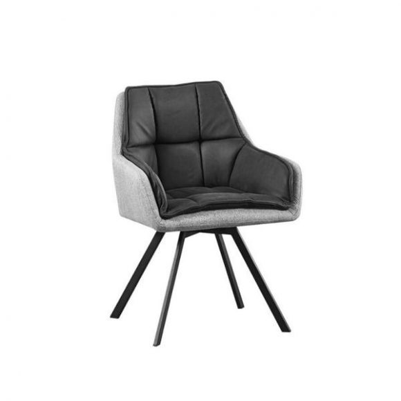 PIRLO II szék grafit + szürke / fekete lábakkal