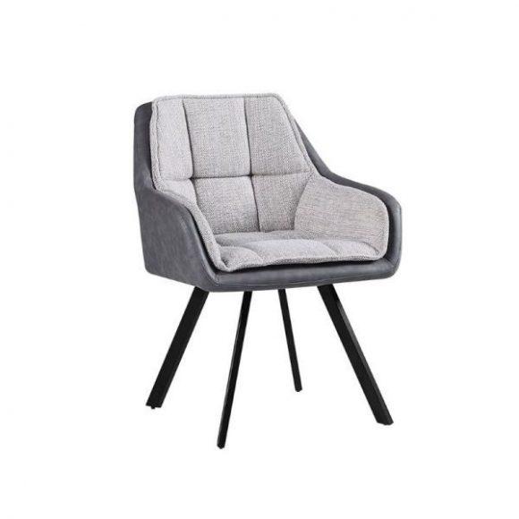 PIRLO szék ezüst + grafit / fekete lábakkal