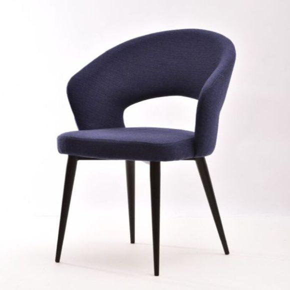 POSITANO fémvázas szék sötétkék, fekete lábakkal