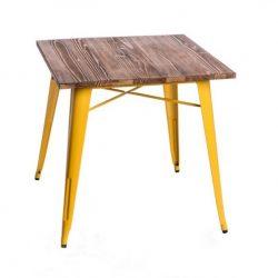 Parker Wood Asztal Citromsárga - Fenyő