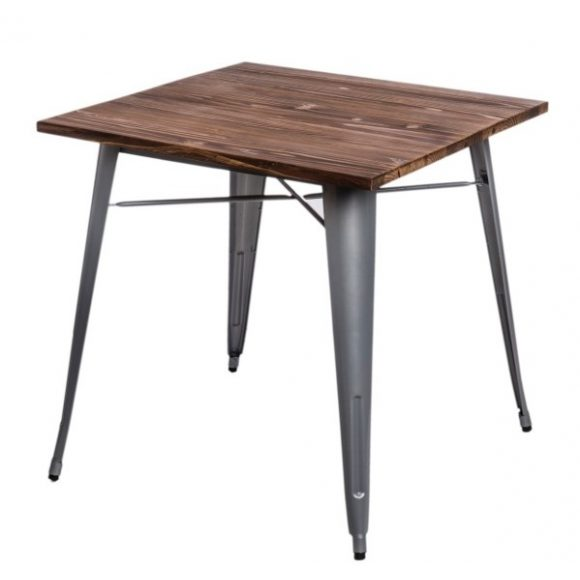 Parker Wood Asztal Ezüst - Fenyő
