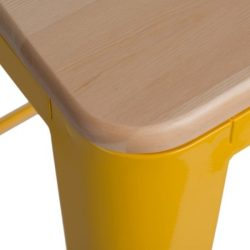 Parker Wood Bárszék 65 cm Sárga / Natúr