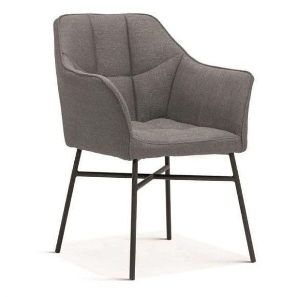 RIMINI fémvázas szék Sötétszürke, fekete lábakkal