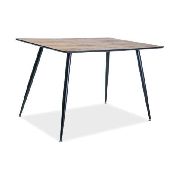 Rebecca Étkezőasztal 120 cm Dió / Matt fekete