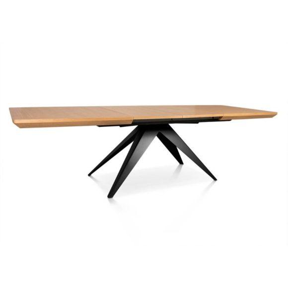 SIMA bővíthető étkezőasztal 180-280cm Tölgy / Fekete