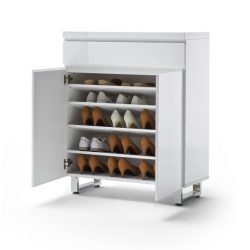 Sommer Cipőtartó Komód 85 x 104 x 38 cm Magasfényű Fehér