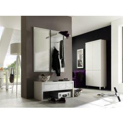 Sommer Cipőszekrény 62 x 195 x 38 cm Magasfényű Fehér