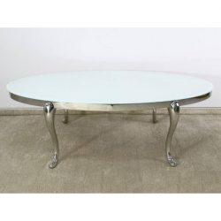 Leonard Ovális Dohányzóasztal 70 x 130 cm / Fehér