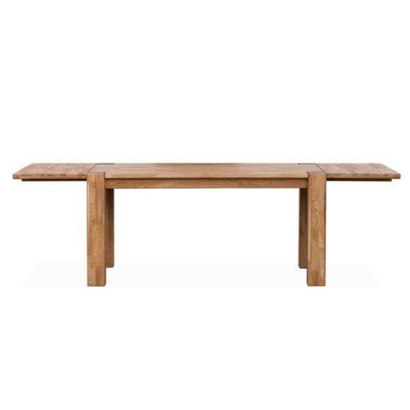 TIMBER tömör tölgyfa bővíthető étkezőasztal 160-260cm