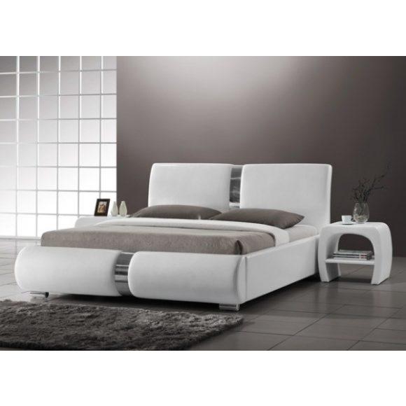 Bryne Franciaágy Keret 180 cm Textilbőr / Fehér