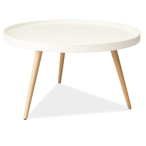 Theda B Dohányzóasztal 78 cm / Fehér
