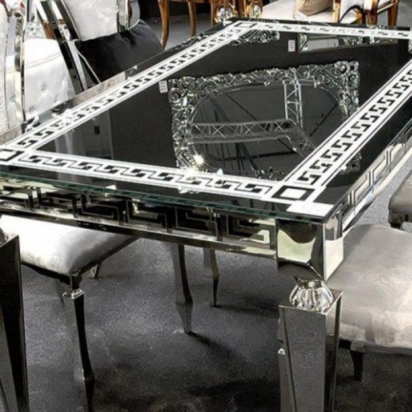 Victoria Étkezőasztal Fekete 150 cm