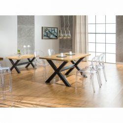 Xara Étkezőasztal 150 cm Tömör Tölgy