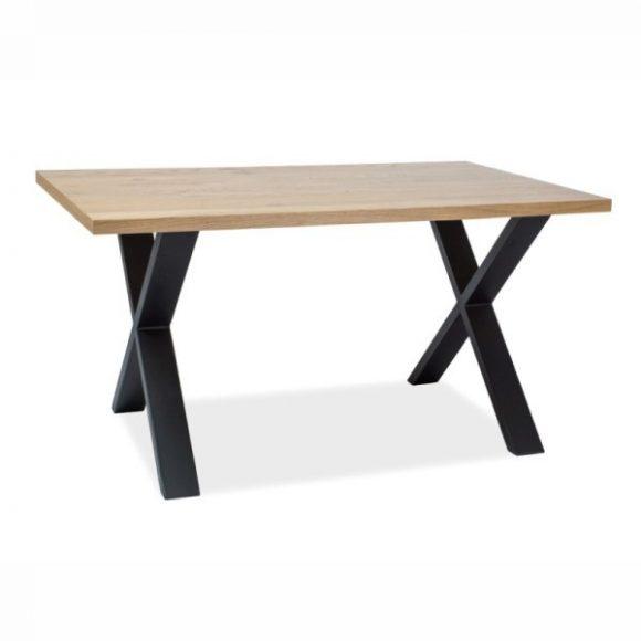 Xara II Étkezőasztal 150 cm Tömör Tölgy