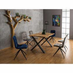 Xara II Étkezőasztal 180 cm Fekete