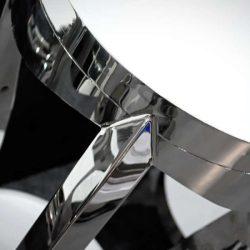 Flick Lerakóasztal - Virágtartó 40 x 70 cm / Ezüst