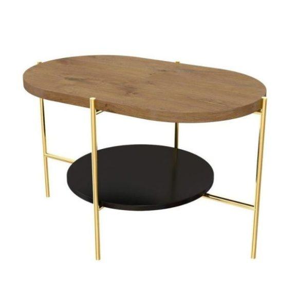 Arena tölgy / arany dohányzóasztal