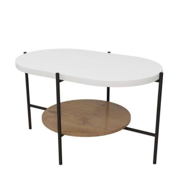 Arena fehér / tölgy dohányzóasztal