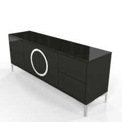 Eva fekete modern Tv szekrény
