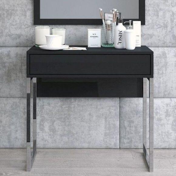 Eva fekete fésülködőasztal