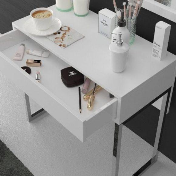 Eva fehér fésülködőasztal
