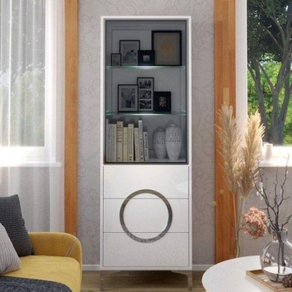 Eva fehér üveges szekrény