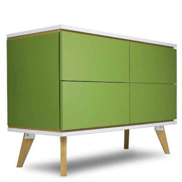 Jorgen zöld 4 ajtós komód