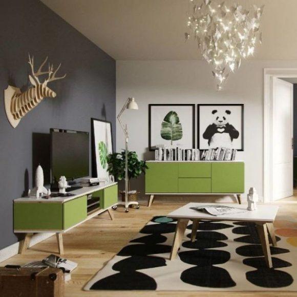 Skandica Jorgen zöld Tv szekrény