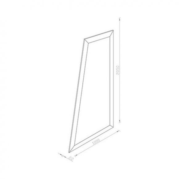 Rubin aszimmetrikus állótükör 205cm